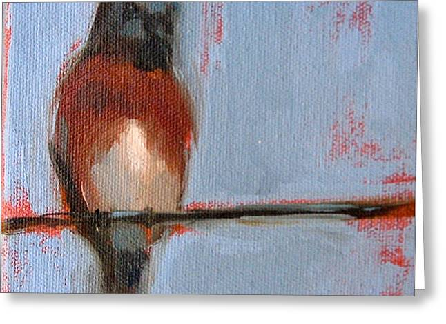 Bird On A Wire I Greeting Card