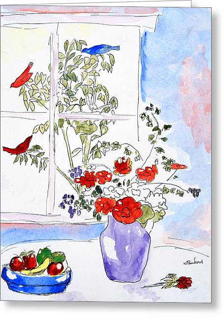 Birds With A View Greeting Card
