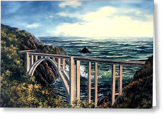 Bixby Creek Bridge Greeting Card