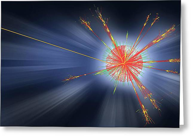 Black Hole Event Greeting Card by Cern