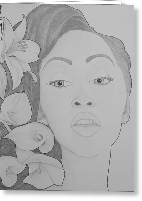 Blooming Girl Lily 2  Greeting Card by Aaron El-Amin
