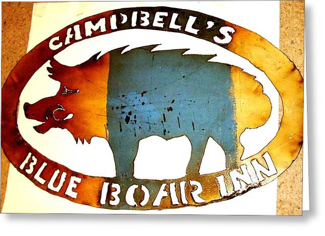 Greeting Card featuring the photograph Blue Boar Inn by Larry Campbell