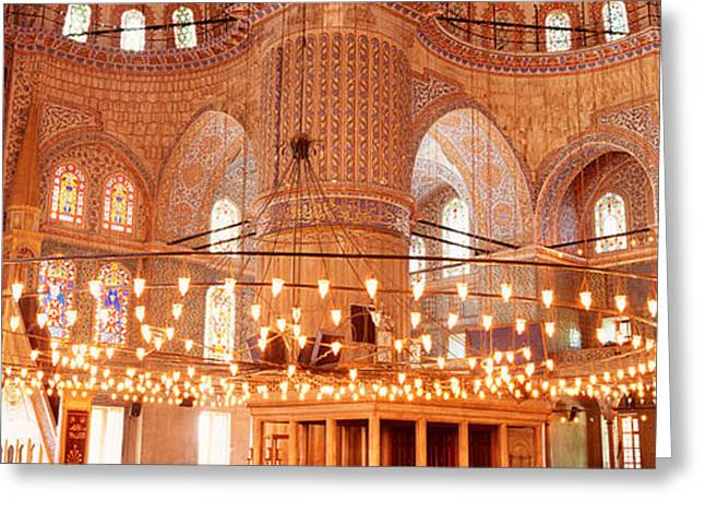 Blue Mosque, Istanbul, Turkey Greeting Card by Panoramic Images