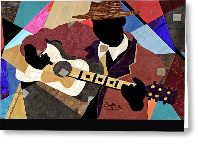 Blues Boy Greeting Card by Everett Spruill