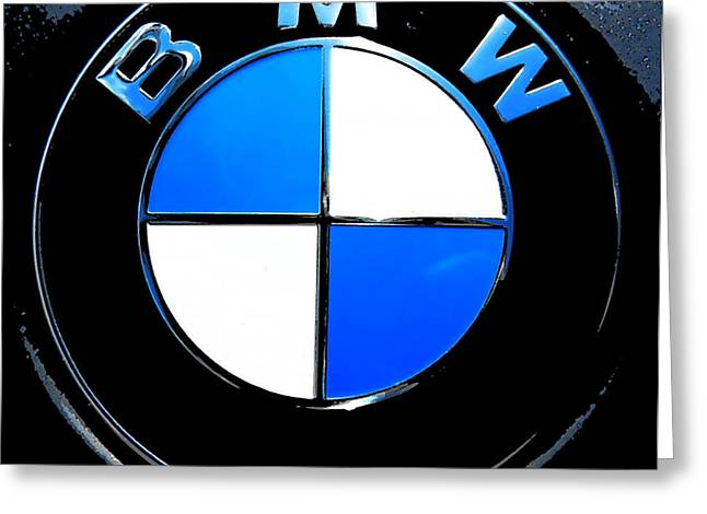 BMW Greeting Card by J Anthony