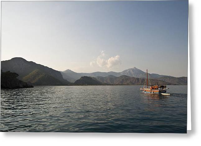 Boat Trip Greeting Card by David Isaacson