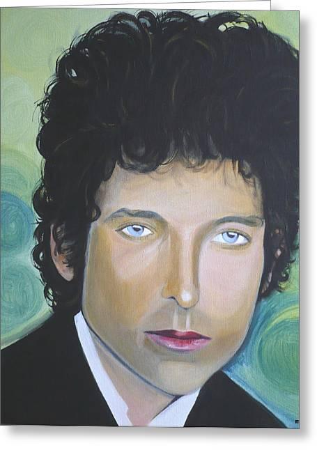 Bob Dylan Greeting Card by Laurette Maillet