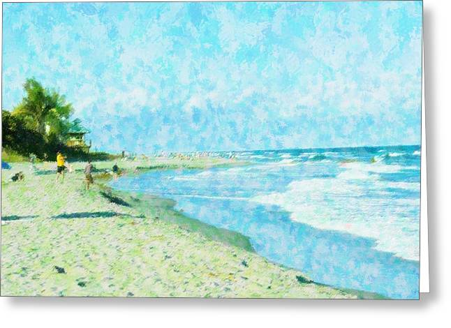 Boca Beach Play Greeting Card