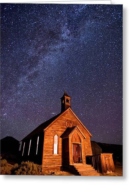 Bodie Church Greeting Card by Cat Connor