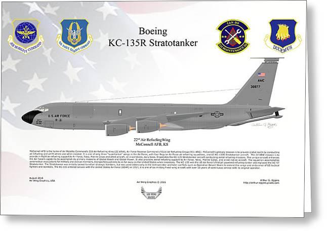 Boeing Kc-135r Stratotanker Greeting Card by Arthur Eggers