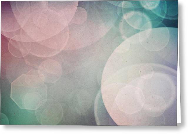 Bokeh Background Greeting Card by Mythja  Photography