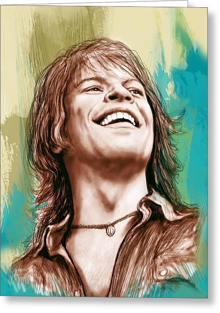 Bon Jovi Long Stylised Drawing Art Poster Greeting Card