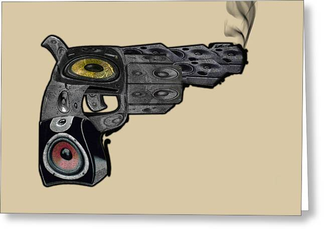 Boombox Greeting Card by Andrew Raby