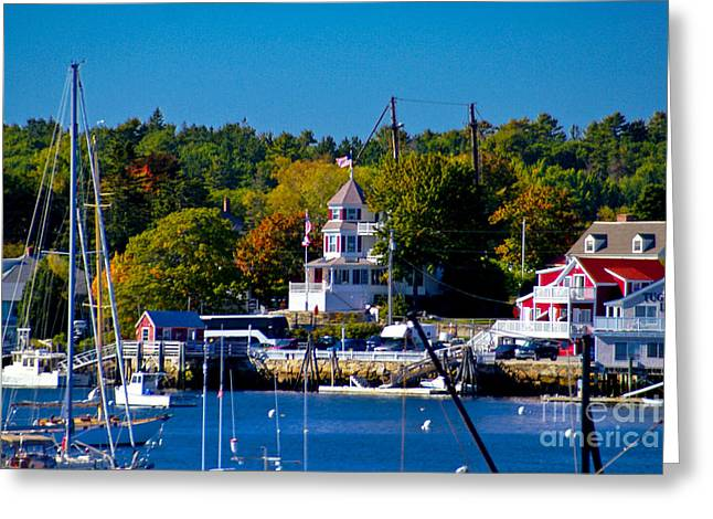 Boothbay Harbor Maine. Greeting Card