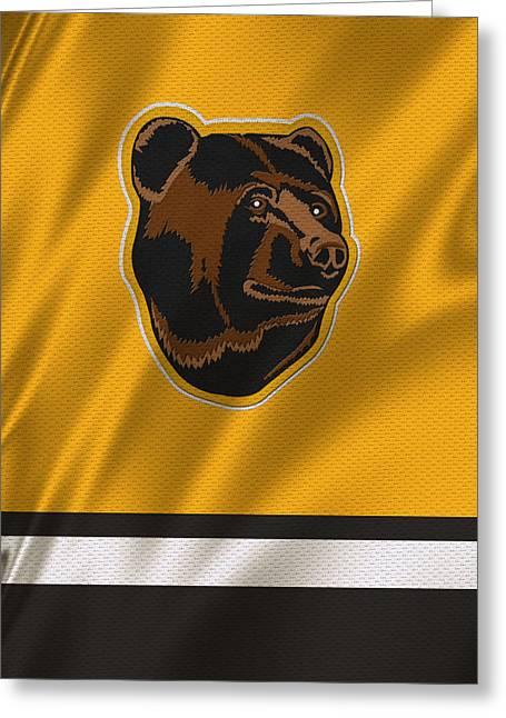 Boston Bruins Uniform Greeting Card by Joe Hamilton