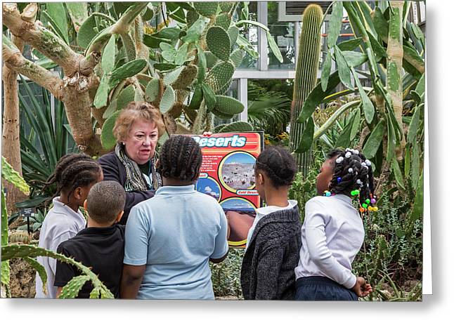 Botanical Greenhouse School Trip Greeting Card