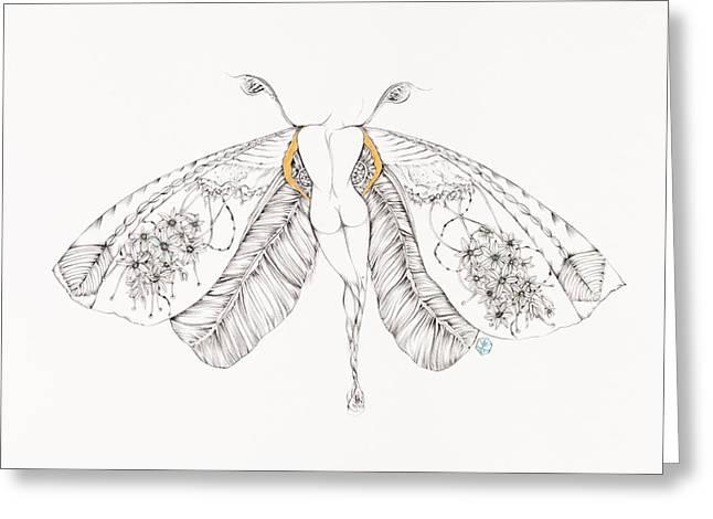 Botanicalia Antoinette  Greeting Card by Karen Robey