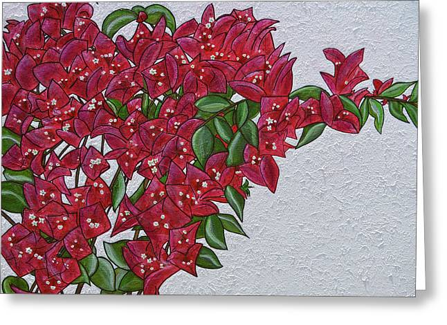 Bougainvillea Greeting Card by Donna  Manaraze
