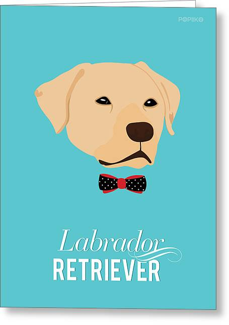 Bowtie Dogs Greeting Card by Popiko Shop