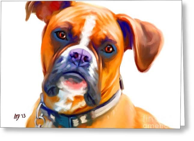 Boxer Dog Art Greeting Card by Iain McDonald