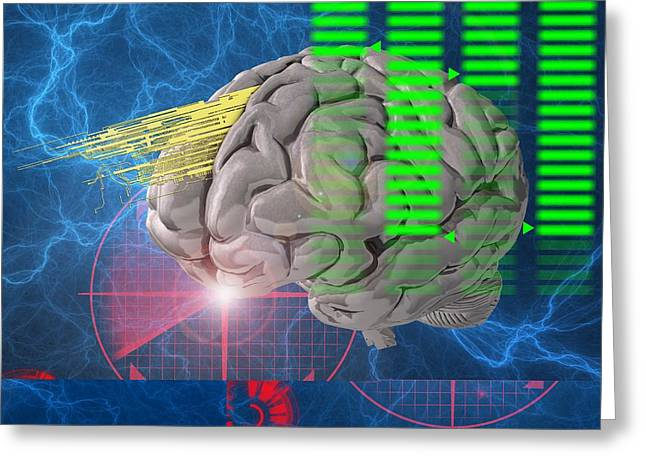 Brain Activity, Conceptual Artwork Greeting Card
