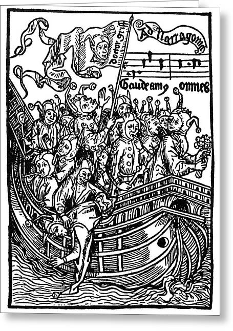 Brant Ship Of Fools Greeting Card by Granger