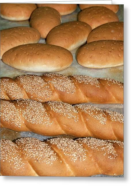 Bread (panini), Italian Cooking, Italy Greeting Card by Nico Tondini