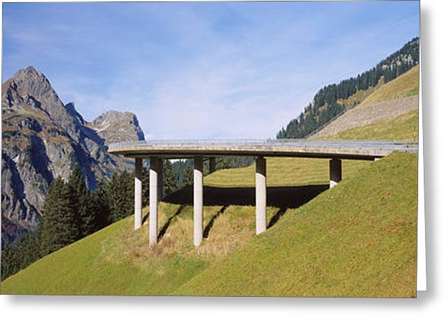 Bridge On Mountains, Mountain Pass Greeting Card by Panoramic Images