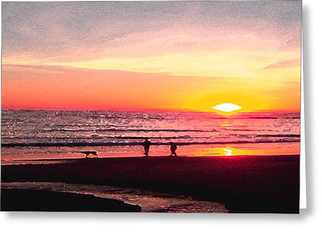 Bright Sunset Greeting Card by Ben and Raisa Gertsberg