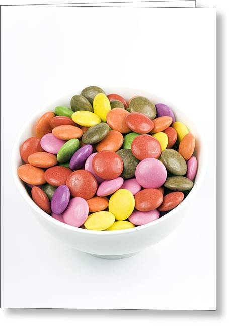 Brightly Coloured Sweets. Greeting Card