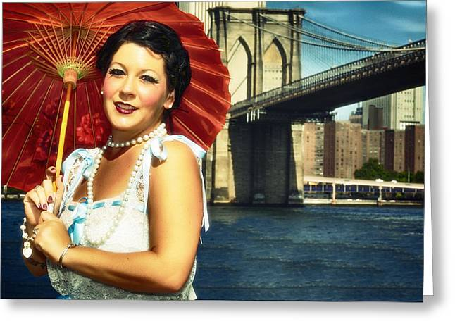 Greeting Card featuring the photograph Brooklyn Bridge by Jim Poulos
