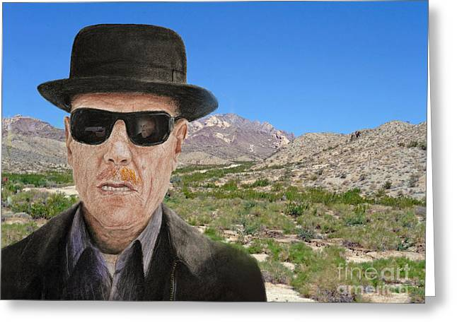 Bryan Cranston As Walter White In Breaking Bad Greeting Card