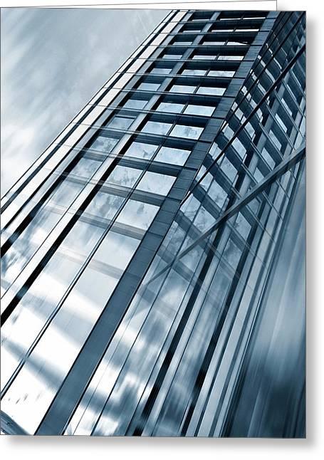 Building Exterior Greeting Card by Wladimir Bulgar
