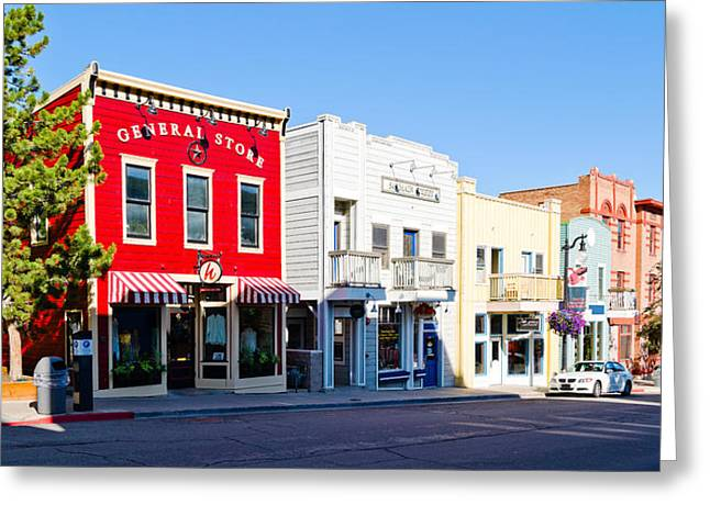 Buildings Along A Street, Main Street Greeting Card by Panoramic Images