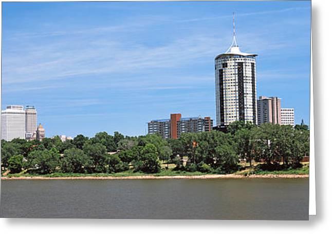 Buildings At The Waterfront, Arkansas Greeting Card