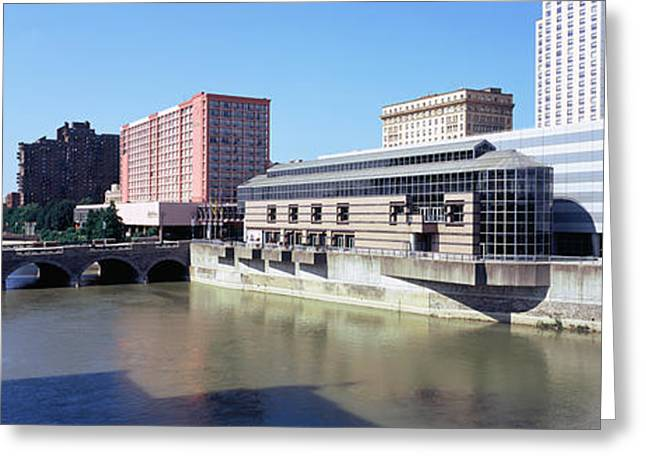 Buildings At The Waterfront, Genesee Greeting Card by Panoramic Images