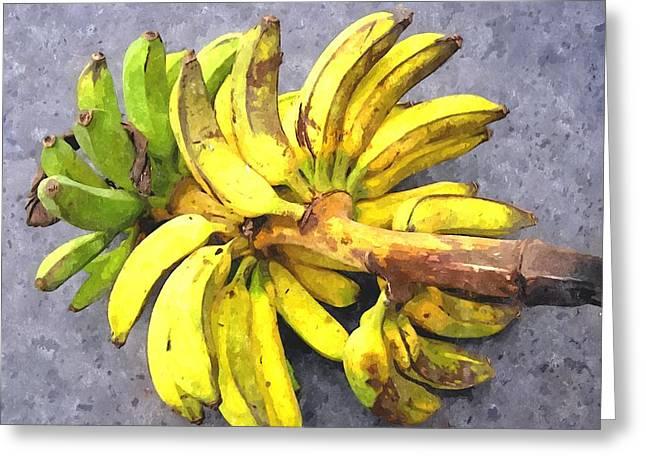 Bunch Of Banana Greeting Card