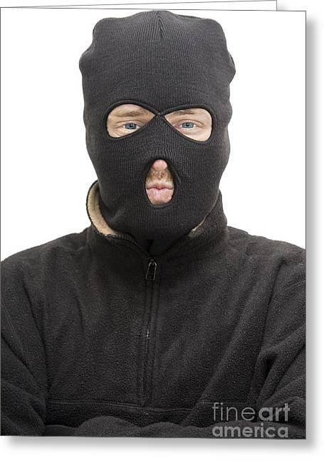 Burglar Greeting Card by Jorgo Photography - Wall Art Gallery