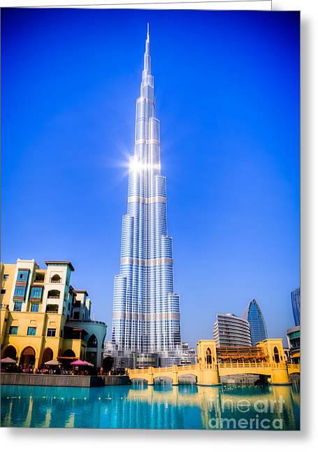 Burj Khalifa Dubai Greeting Card by Fototrav Print