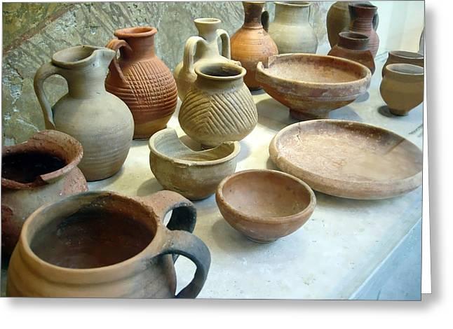 Byzantine Pottery Greeting Card