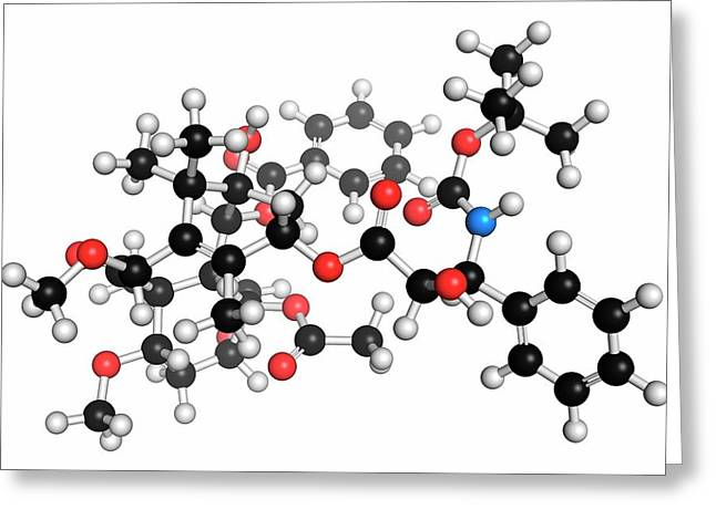Cabazitaxel Cancer Drug Molecule Greeting Card by Molekuul