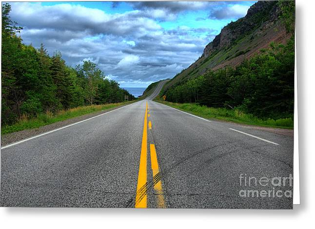 Greeting Card featuring the photograph Cabot Trail by Joe  Ng