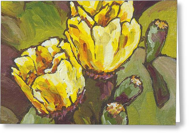 Cactus Blooms Greeting Card