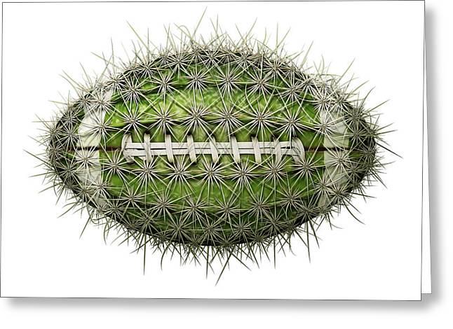 Cactus Football Greeting Card