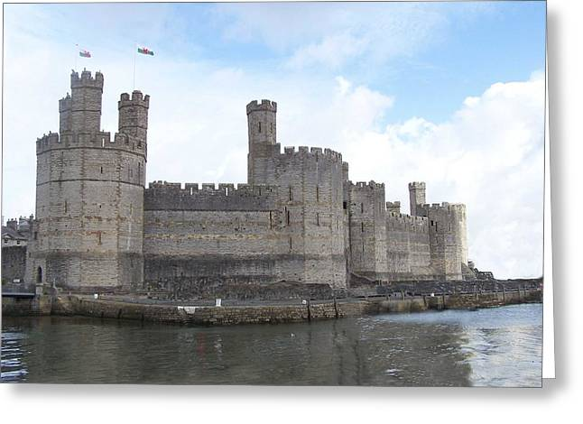 Greeting Card featuring the photograph Caernarfon Castle by Christopher Rowlands