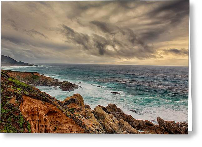 California Central Coast At Big Sur Greeting Card by Ken Wolter