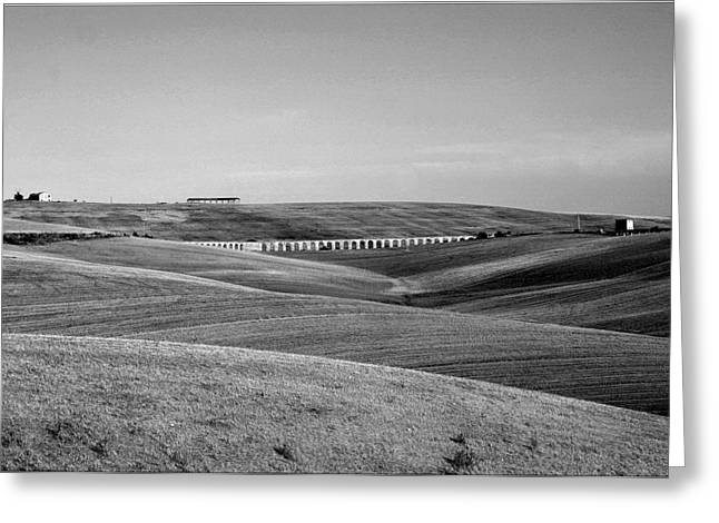 Tarquinia Landscape Campaign With Aqueduct Greeting Card