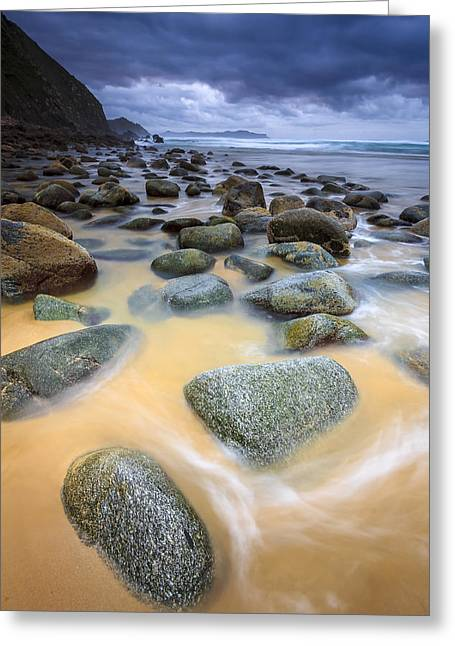 Greeting Card featuring the photograph Campelo Beach Galicia Spain by Pablo Avanzini
