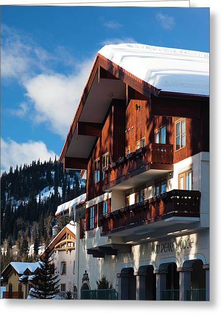 Canada, British Columbia, Sun Peaks Greeting Card by Walter Bibikow