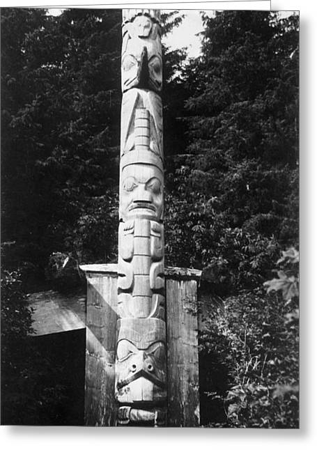 Canada Haida Totem Pole Greeting Card by Granger